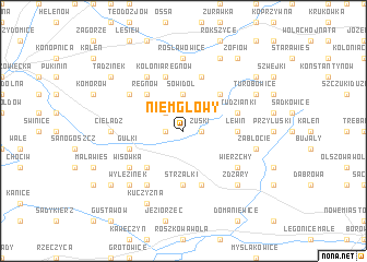 map of Niemgłowy