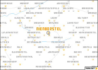map of Nienborstel