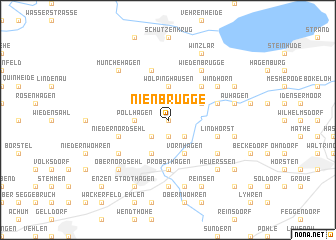 map of Nienbrügge