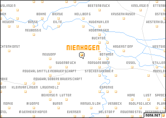map of Nienhagen