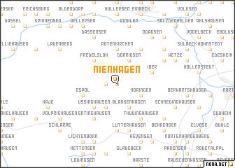 map of Nienhagen