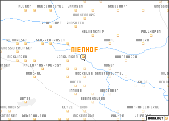 map of Nienhof