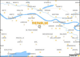 map of Nienwalde