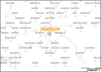 map of Nierodzim