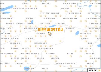 map of Nieświastów