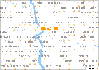 map of Nieszawa