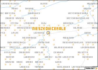 map of Nieszkowice Małe