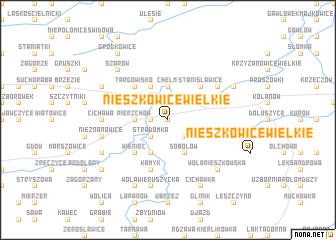 map of Nieszkowice Wielkie