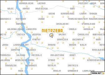 map of Nietrzeba