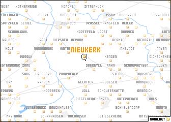 map of Nieukerk