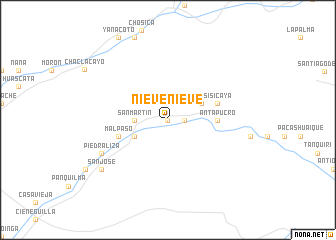 Nieve nieve peru map for Chontay lima