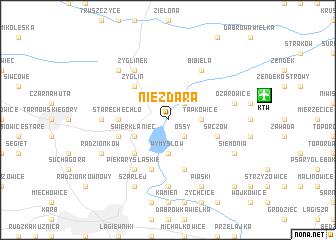 map of Niezdara