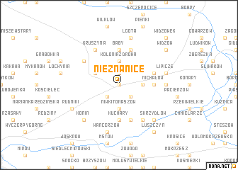 map of Nieznanice