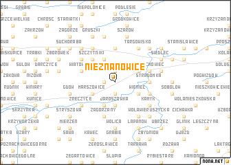 map of Nieznanowice