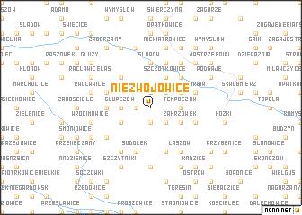map of Niezwojowice
