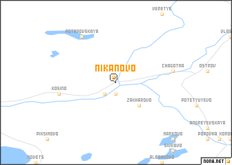 map of Nikanovo