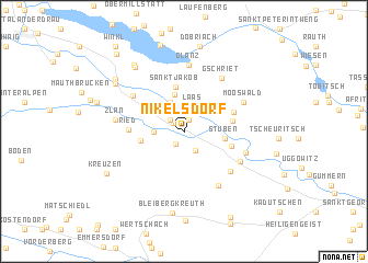 map of Nikelsdorf