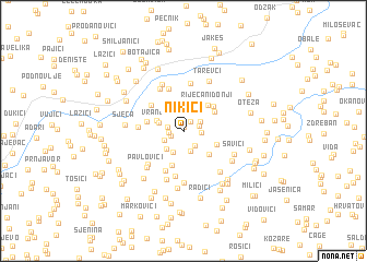 map of Nikići