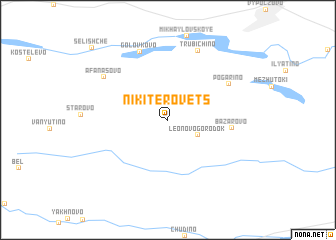 map of Nikiterovets