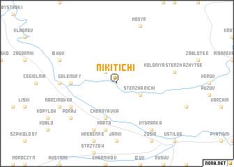 map of Nikitichi