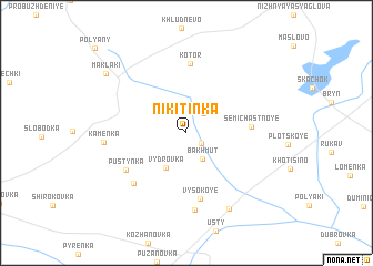 map of Nikitinka