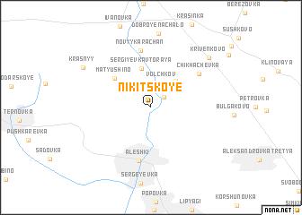 map of Nikitskoye