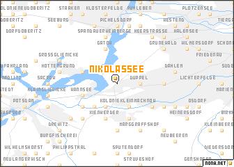 map of Nikolassee