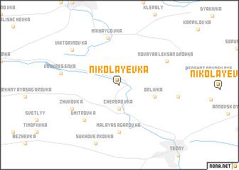 map of Nikolayevka