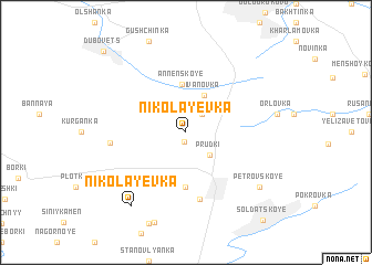 map of Nikolayevka