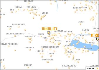 map of Nikolići