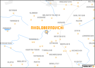 map of Nikolo-Bernovichi