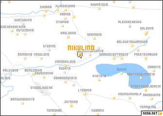 map of Nikulino