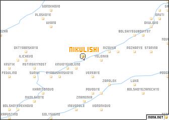 map of Nikulishi