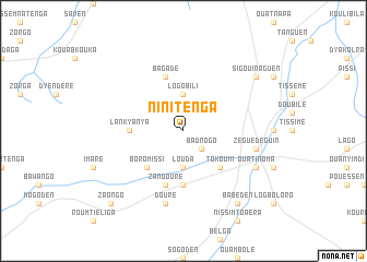 map of Ninitenga