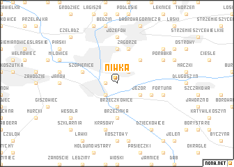 map of Niwka