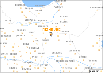map of Nizhavec