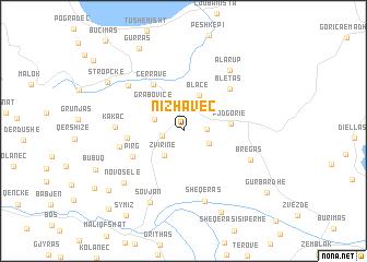 map of Nizhavec