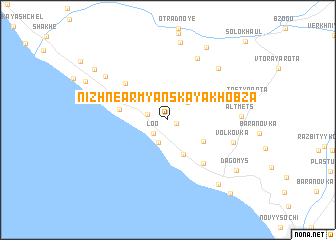 map of Nizhnearmyanskaya Khobza