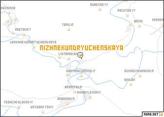 map of Nizhnekundryuchenskaya