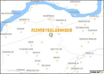 map of Nizhneye Glushkovo