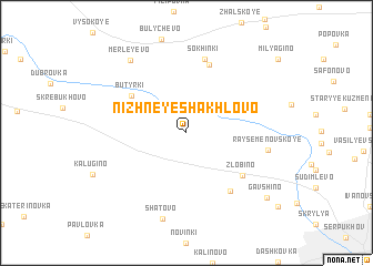 map of Nizhneye Shakhlovo