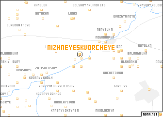 map of Nizhneye Skvorcheye