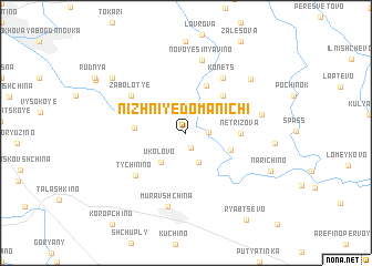 map of Nizhniye Domanichi