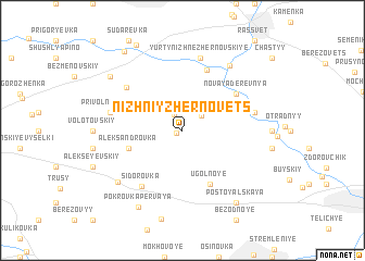 map of Nizhniy Zhërnovets