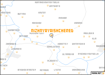 map of Nizhnyaya Ishchered\