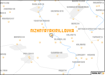map of Nizhnyaya Kirillovka