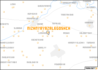 map of Nizhnyaya Zalegoshch\