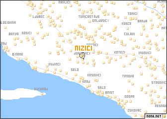 map of Nizići