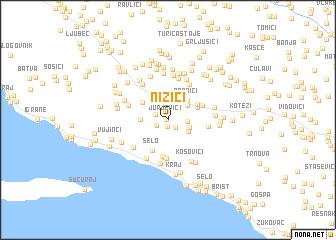map of Nizići