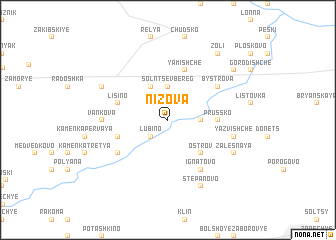 map of Nizova